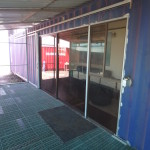 Steel Shipping Container Home Door Open